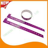 Bandes polychromes en plastique de bracelet de bracelet d'identification d'impression de divertissement (E8070-20-22)