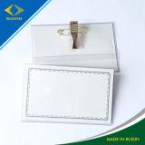 Профессиональный Pin нагрудной планки с фамилией участника PVC продукции & владельца карточки конвенции зажима