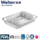 Форма серебряного качества еды контейнера Roasting алюминиевой фольги глубокая овальная для выпечки расстегая
