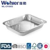 Bandejas de la porción del papel de aluminio del restaurante/platos de congelación de la hornada de la hoja