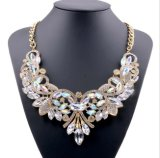 De Juwelen van de Halsband van de Nauwsluitende halsketting van de Manier van de Verklaring van de Bloem van de Legering van het Kristal van de diamant