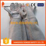 Gant gris Dlw620 de travail de gant de soudeuse de cuir fendu de vache