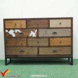 Shabby Chic Gabinete de archivo de madera de gran tamaño de archivo de archivo