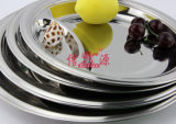 Los pasteles del acero inoxidable separan la bandeja (FT-00804)