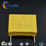 Condensador metalizado nuevo rectángulo de la película del polipropileno (X2 0.68UF/275V E4)