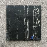 磨かれた自然な銀製のドラゴンの黒の大理石表