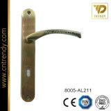 Het Handvat van het Slot van de Deur van de Plaat van het ijzer met de Hefboom van het Aluminium (8016-AL216)