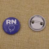 Insignia del botón de la impresión del logotipo del precio barato