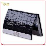 金属フレームが付いている贅沢なデザインワニパターン革カードケース