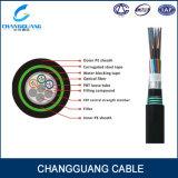 Le câble de fibre optique de l'approvisionnement GYFTY53 d'usine a échoué blindé simple avec le taraud en acier