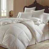 Duvet branco luxuoso do poliéster de linho de base do hotel do Duvet de Microfiber