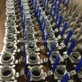 Type lourd robinet à tournant sphérique de BSPP/Bsp/G Triparttite