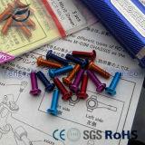 7075 vis/boulons en aluminium anodisés colorés de haute résistance