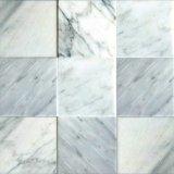 Azulejo blanco de la pared del azulejo de suelo del mármol 4X4 de Bianco Carrara
