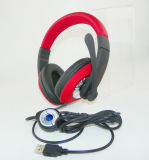 Auriculares estereofónicos do jogo do PC do USB