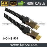 HDMI ad alta velocità Kable 1.4V con il manicotto di nylon, supporto 3D