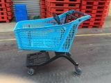 Carretilla caliente plástica pura de las compras de la escalera de la subida de la venta con la silla