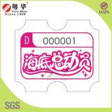 2016 boletos de lotería de fichas de la nueva del diseño de la diversión arcada del equipo