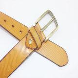 Пояс способа пряжки сплава высокого качества кожаный для женщины