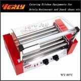 Machine durable de saucisse de mode, gril incliné électrique de hot-dog de 7 rouleaux, CE approuvé (WY-007B)