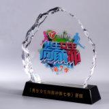 Il trofeo di vetro all'ingrosso modella il premio di cristallo del trofeo
