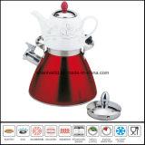 Chaleira dobro do assobio com jogo de chá cerâmico do Samovar do Teakettle