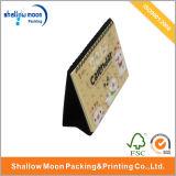 Симпатичный малый изготовленный на заказ календар бумаги стола высокого качества (QY150311)