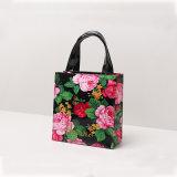 Deux tailles noircissent le sac à provisions floral imperméable à l'eau de PVC (H036-008)