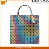 Grandes sacos de ombro personalizados à moda extra feitos sob encomenda do Tote da platina grandes