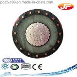Câble blindé du fil de cuivre simple à haute tension XLPE de faisceau