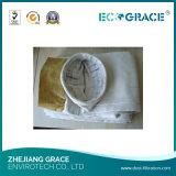 Sacchetti filtro a temperatura elevata della vetroresina della membrana del filtrante PTFE del gas