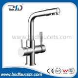 Chromierter Messingtrinkwasser-gereinigter gefilterter Wasser-Dreiwegehahn