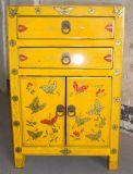 Chinesische Wiedergabe-hölzerner gemalter Schrank Lwb571