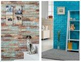 Ziegelstein PET Schaumgummi-Wand-Aufkleber der Tapeten-Raum-Wand-Dekoration-3D