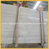 Mattonelle bianche di legno cinesi della pavimentazione e della parete della pietra del marmo della vena