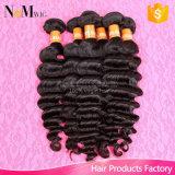 Ondulato brasiliano di fabbrica della presa di prezzi del commercio all'ingrosso 8A Remy del tessuto del Virgin umano Rated superiore dei capelli
