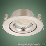 Twist Lock Ring Alumínio ajustável GU10 LED Spotlight Recessed Downlight