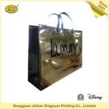 Saco de mão revestido luxuoso do ouro de papel para o presente (JHXY-PBG0011)