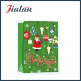 Saco de papel laminado lustroso do presente da compra do Natal do papel 2016 revestido
