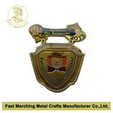 Epoxyの旧式なBrass Plated Badge