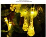 태양 에너지 LED 끈 빛 빗방울 크리스마스 불빛 Lh Ss20