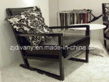 Sofá de cuero de madera del estilo italiano solo (D-41)