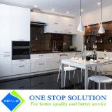 Mobília elevada branca dos gabinetes de cozinha do revestimento da laca do lustro (ZY 1125)