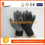 10 gants fonctionnants enduits par latex gris acrylique noir Dkl337 d'interpréteur de commandes interactif de mesure