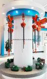 Guincho de corrente elétrica de 5 toneladas com motor elétrico e gancho