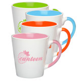 Mejorsub著12oz Inside Color Latte Mug Sublimation Coated