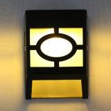 Lampe sans fil actionnée solaire de patio de mur de jardin d'horizontal de chemin d'escalier de lumière blanche d'opération de détecteur de mouvement de 10 DEL