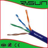 Cable Cat5e de la comunicación de UTP