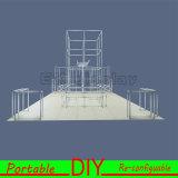 Подгонянная DIY портативная многоразовая будочка выставки с конструкцией