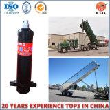 Cylindre hydraulique télescopique à plusieurs étages pour le type de technicien de camion-
